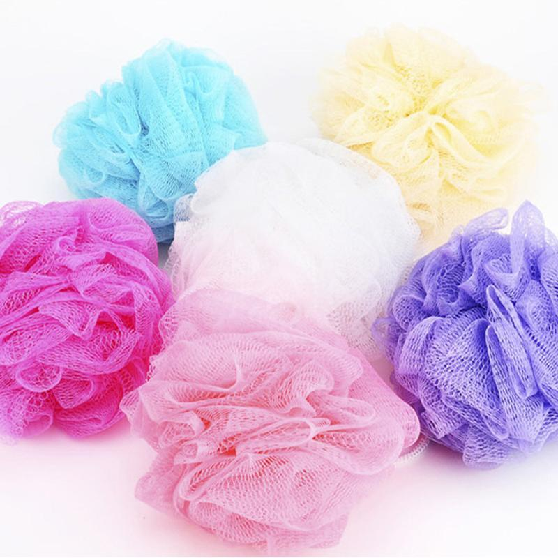 Bathroom Parts Body Mop Bath Flower Ball Sponge Shower Soft Sponge Bubbles Foaming Mesh Net Loofah Cleaning Wash Body Colorful