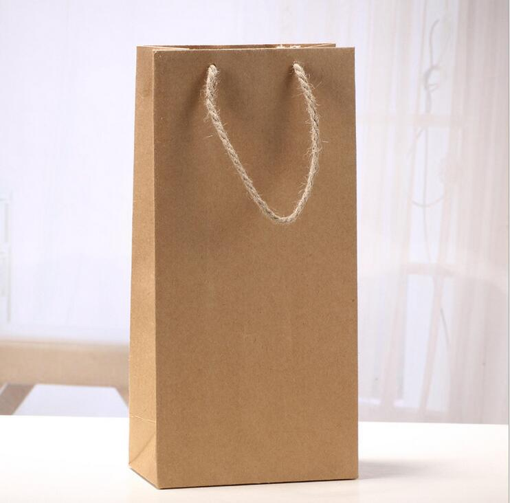 Kraft Paper Red Wine Bag Single And Double Gift Packaging Wines Box Handbags Easy To Carry
