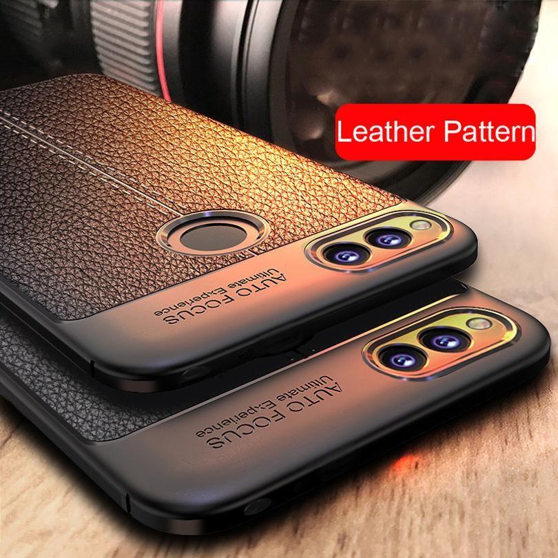 Caso de la cubierta a prueba de golpes mate de cuero de lujo de fibra de carbono para Huawei P10 P20 Plus Lite Pro Honor 8 9 Lite 10 V10 P10 P30 Pro elegante de la caja P