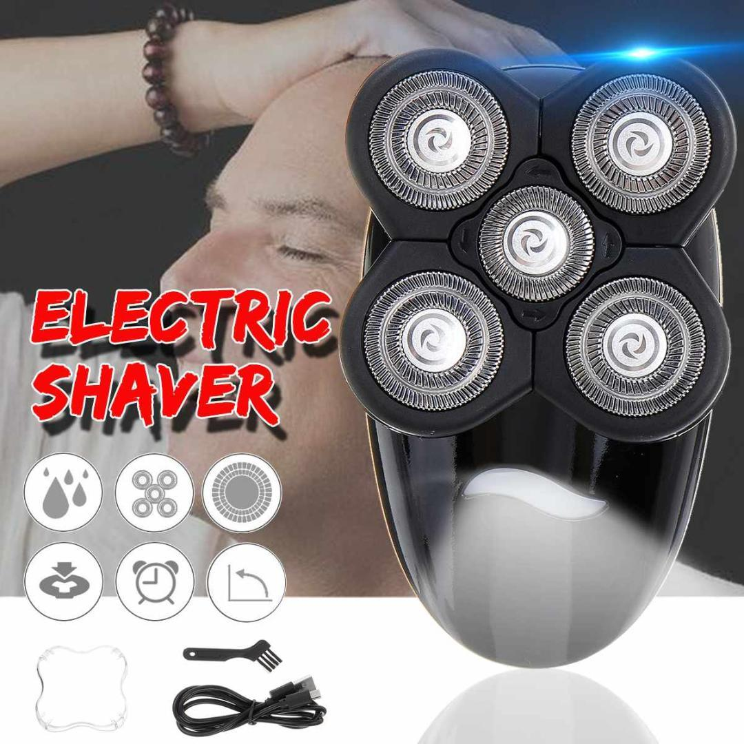 SPZ 4D Men Electric Shaver Rechargeable Razors Bald Head Shaving Beard Trimmer Nose Hair Cutter USB Portable Home Travel