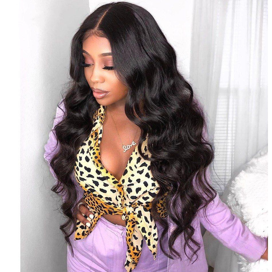 Mongolian Lace Front Wig with Baby Hair Body Wave Glueless Lace Wig 130% Density Natural Color Human Hair Wig