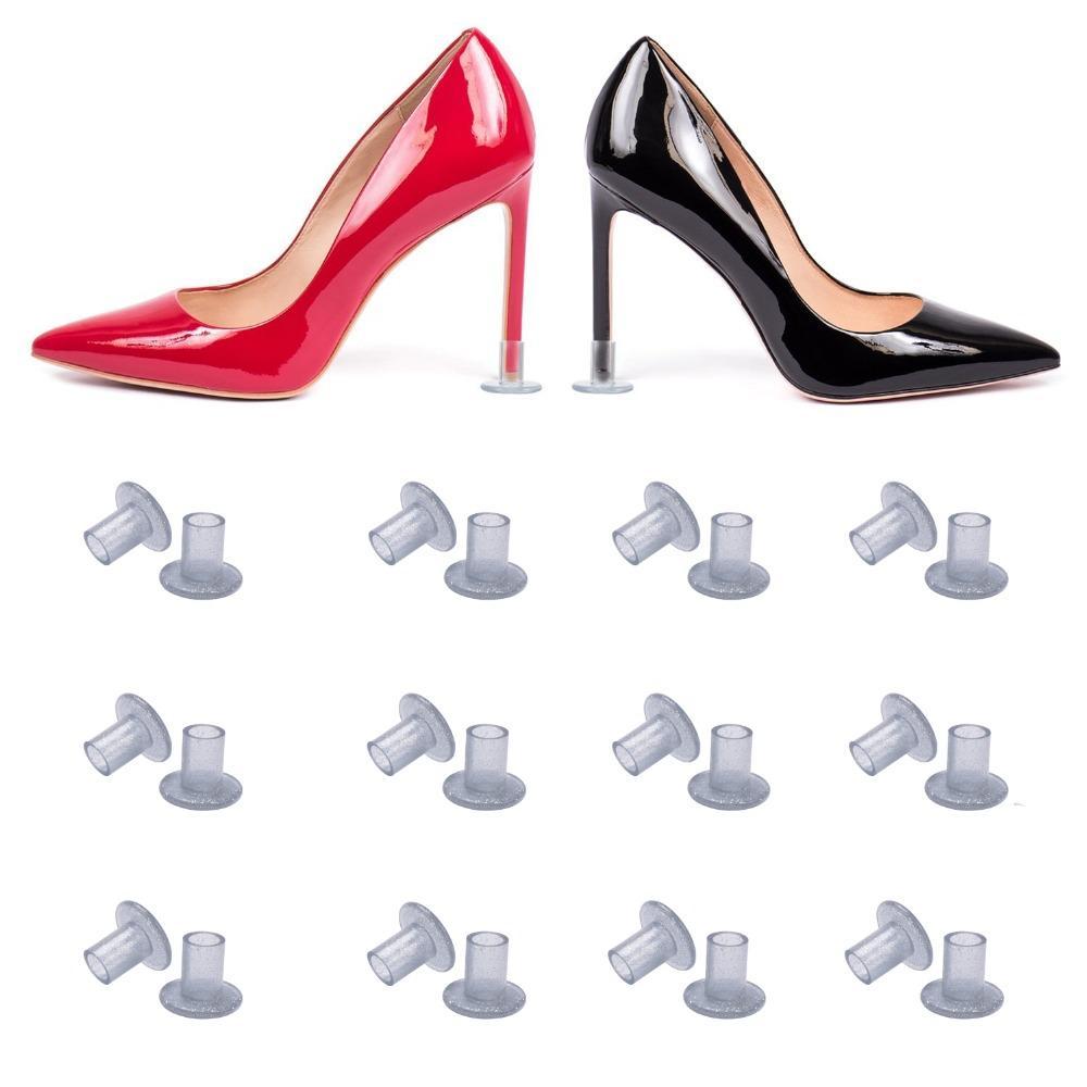 50 pares Lote / Heel Protetores alta Heeler Antislip prateado Heel Stopper Latina Stiletto Dança Tampa para o partido nupcial do casamento