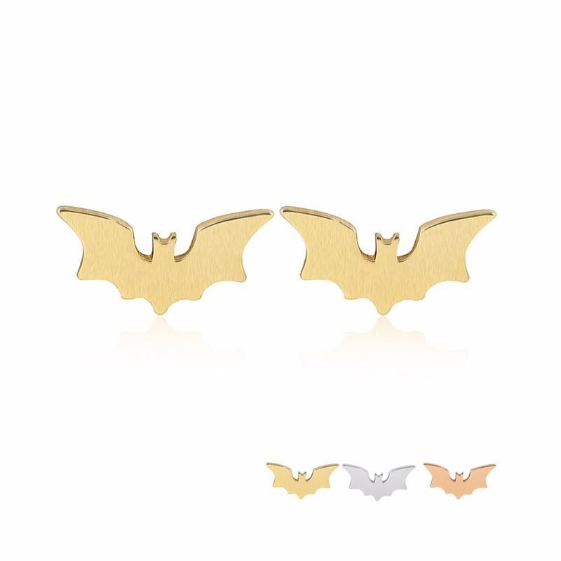 New Spread Wing Bat Earring Copper Material Cute Batman Fashion Studs Earrings Accessories Jewelry For Kids Grils Women EFE068
