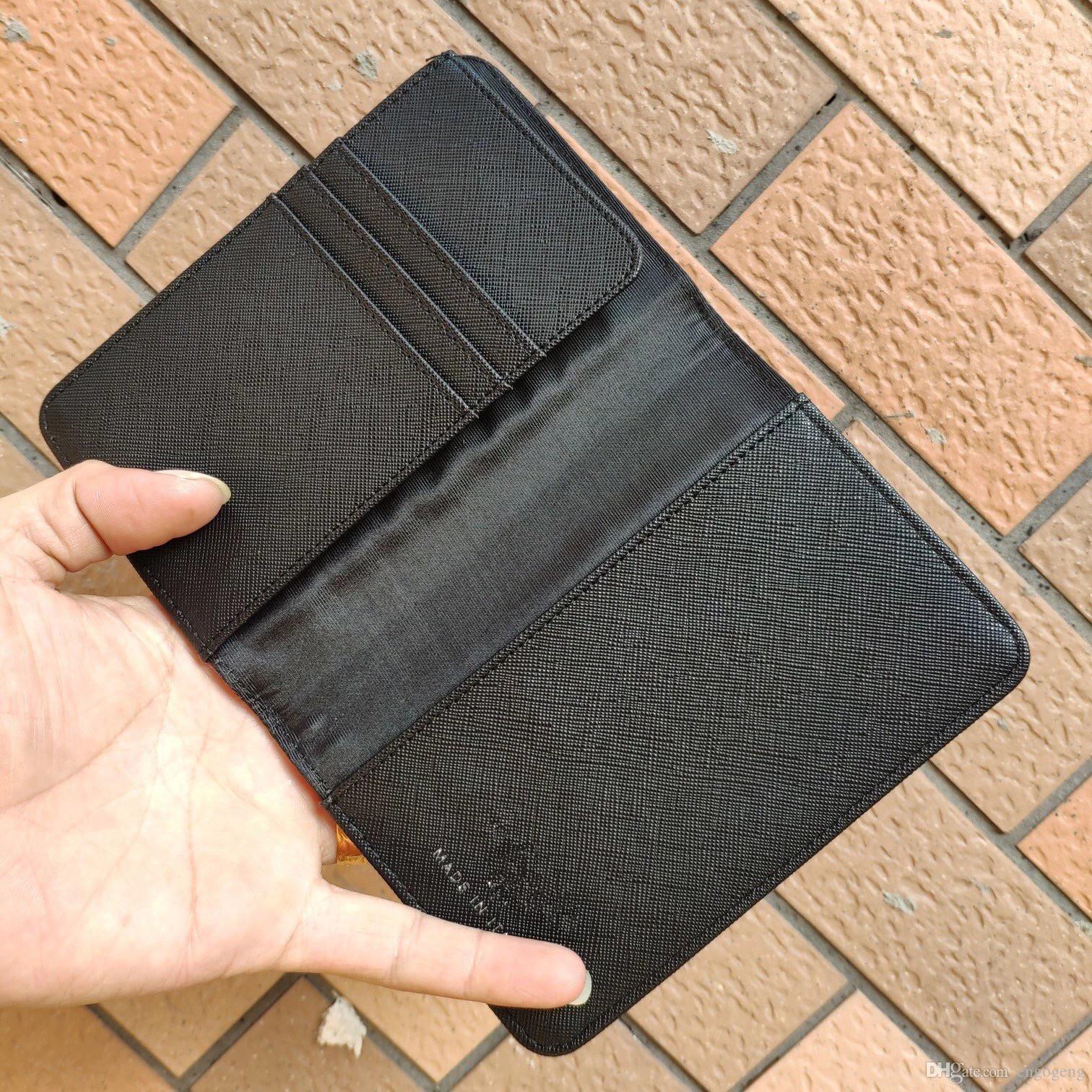 NOUVELLE arrivée classique motif PU titulaire du passeport Croix modèle sac de sac noir PU sac titulaire de la carte passeport sac