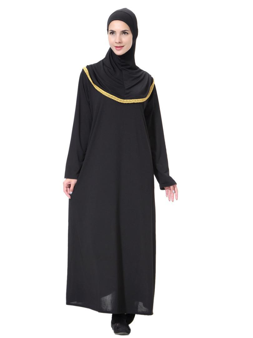 721baaf2fee95 2019 New Hijab Scarf Evening Dresses Bangladesh Kaftan Dubai Abaya Pakistan  Caftan Muslim Black Dress Women Djellaba Islamic Clothing From Longan08, ...