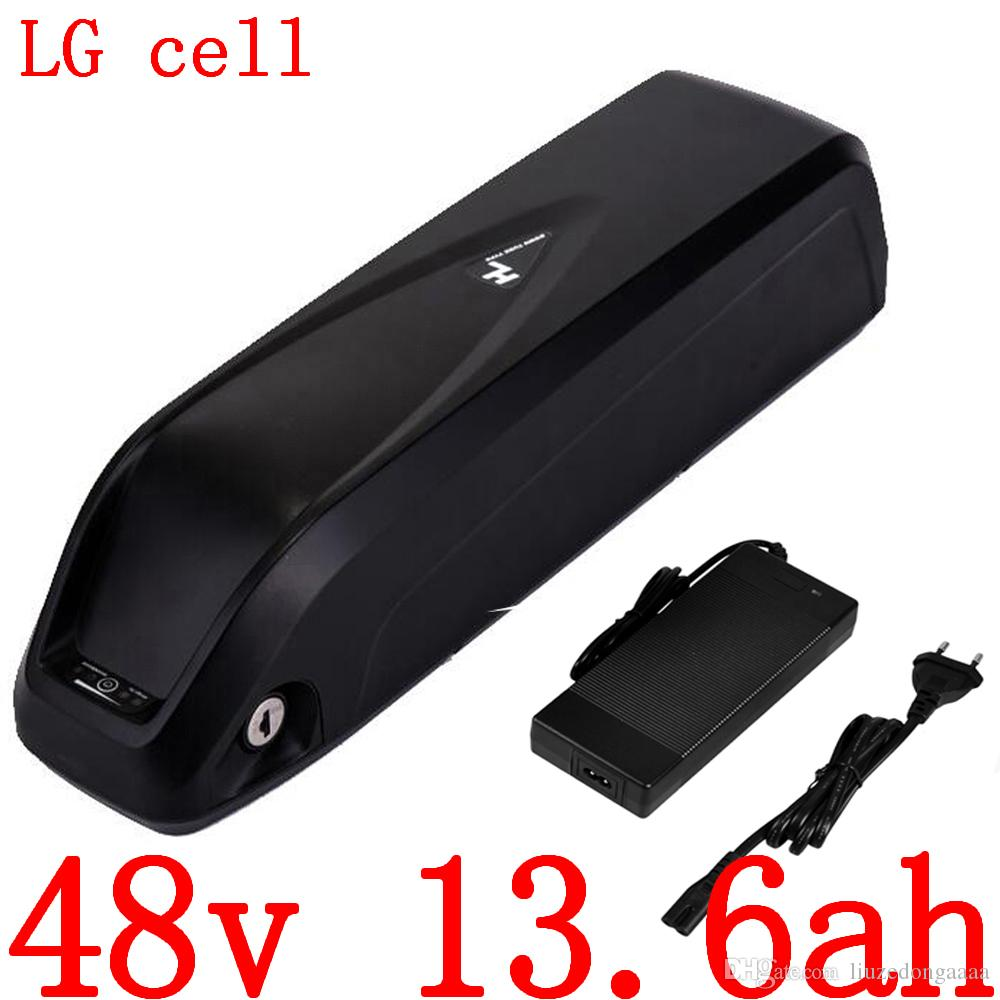 Eu EE.UU. ningún impuesto 48v batería bicicleta eléctrica 48v 13Ah 13.6ah 14ah litio ion celular uso de la batería lg para 48v500w motor 750w ebike