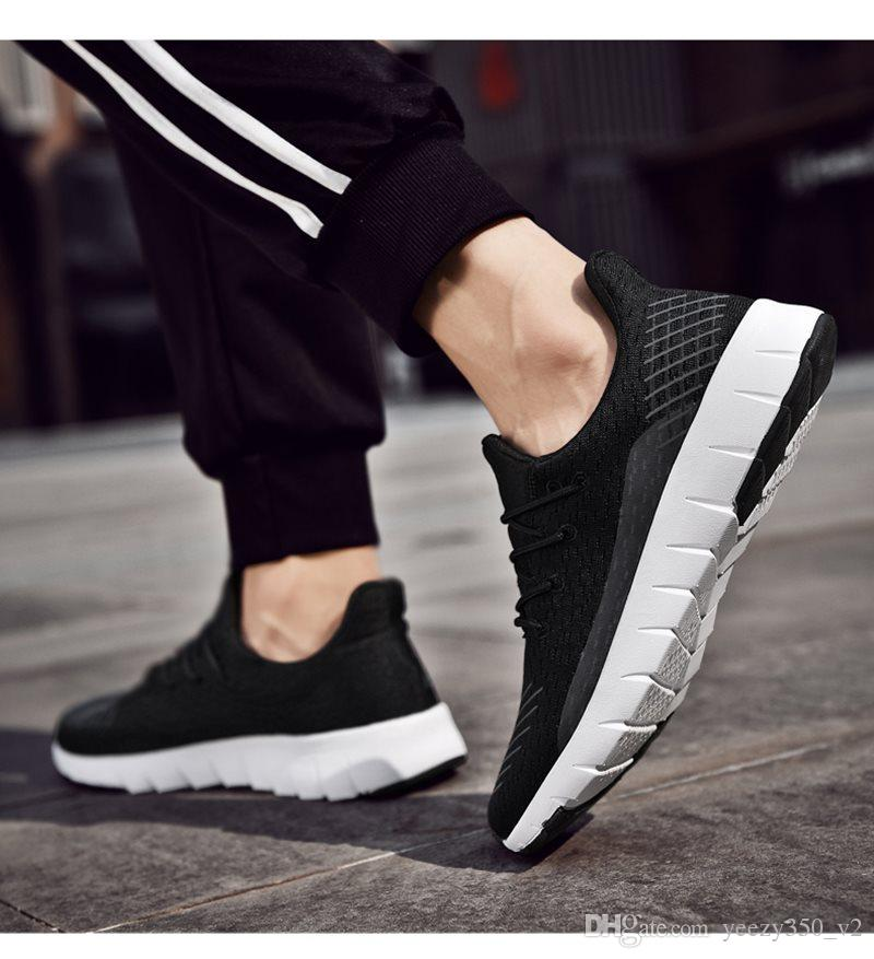 Hot Sale Fashion Men Shoes Mesh Breathable Sneakers Walking Male Footwear New Comfortable Lightweight Running Shoes C-200301135