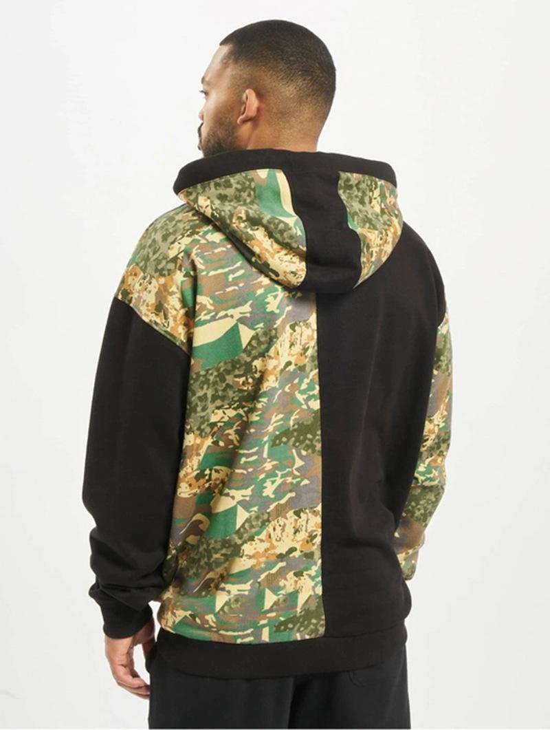 Hoodies manga comprida Pullover Outono Homme Camuflagem Imprimir Casaual Vestuário Mens Sports Designer cor sólida