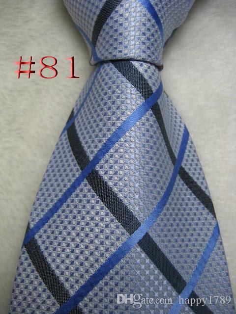 Cravatta cravatta tessuta a mano in jacquard intessuta a mano da uomo # 81 # 100%