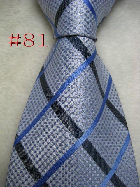 # 81 # 100% Moda de seda lindo Jacquard Woven Handmade Tie Gravata dos homens