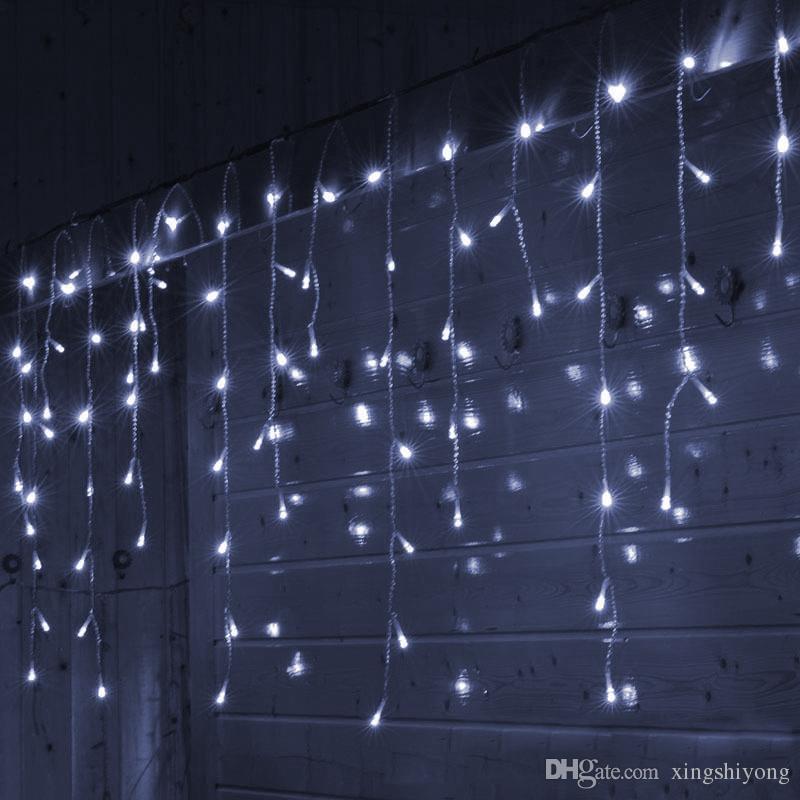 6X1 M LED Garland Icicle Noel Perde Işıkları Festoon Peri Işıkları Ev Tatil Kapalı Düğün Noel Partisi Için Kapalı Açık Süslemeleri