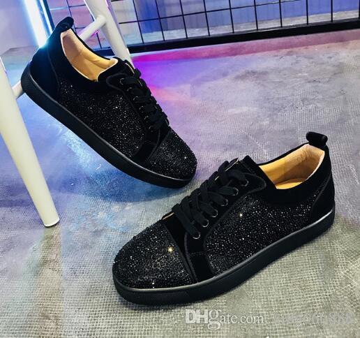 Nuevos picos del diseñador de moda inferiores rojos zapatillas de deporte de los hombres de las mujeres de lujo de los zapatos ocasionales del estilo francés ocio de las mujeres del partido de Formación zapatillas de deporte Zapatos