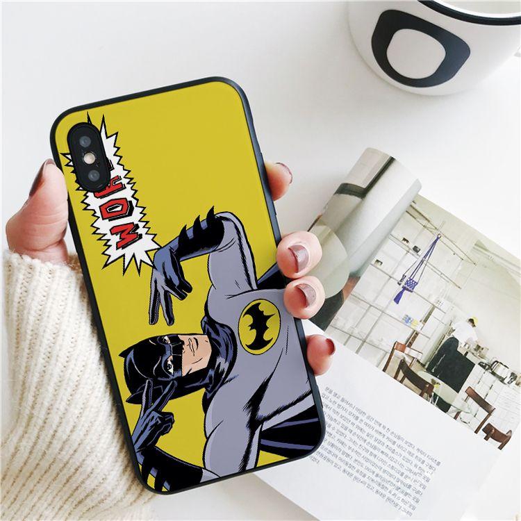 Copertura Parola del fumetto Coque di lusso per iPhone Pro 11 Xs Max caso Xr per iPhone 8 7 6s Inoltre copertura del silicone 5S SE 5 Custodia morbida.