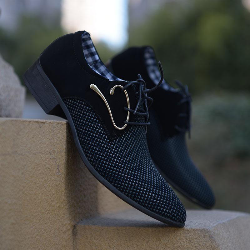 La primavera e l'estate scarpe panno Mens Business Leisure Trend Mens coreano traspirante British Fashion Shoes