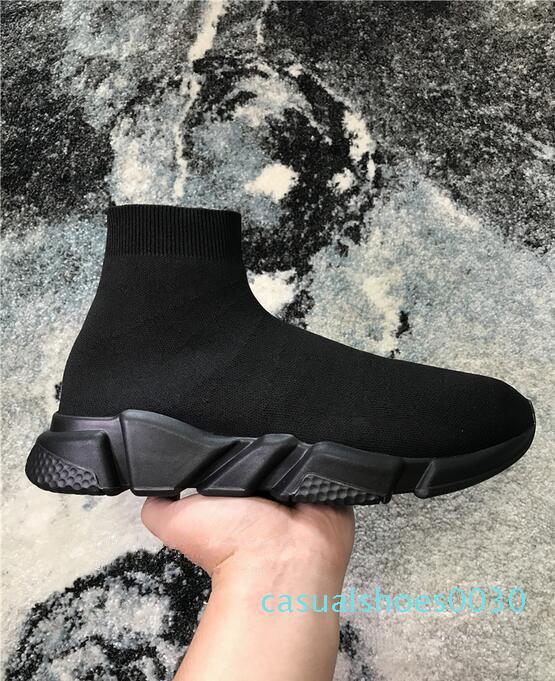 Hot Marque Chaussette Chaussures Hommes Femmes Vitesse Formateurs Chaussures de sport mode de qualité supérieure en tricot maille Slip-on Chaussures Air ultra léger Bas Runners Boot c30