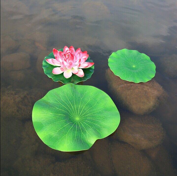 10 CM 17 CM 28 CM 40 CM 60 CM yapay PE küçük LOTUS YAPRAK diy düğün ev havuzu dekorasyon nilüfer yaprağı