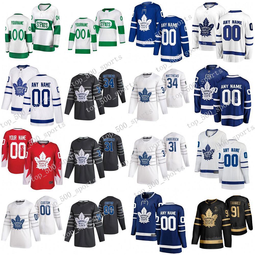 토론토 메이플 leafs 2020 all star jersey john tavares 오스톤 매튜스 윌리엄 나일리더 Jason Spezza Frederik Andersen Rielly Kapanen Hockey