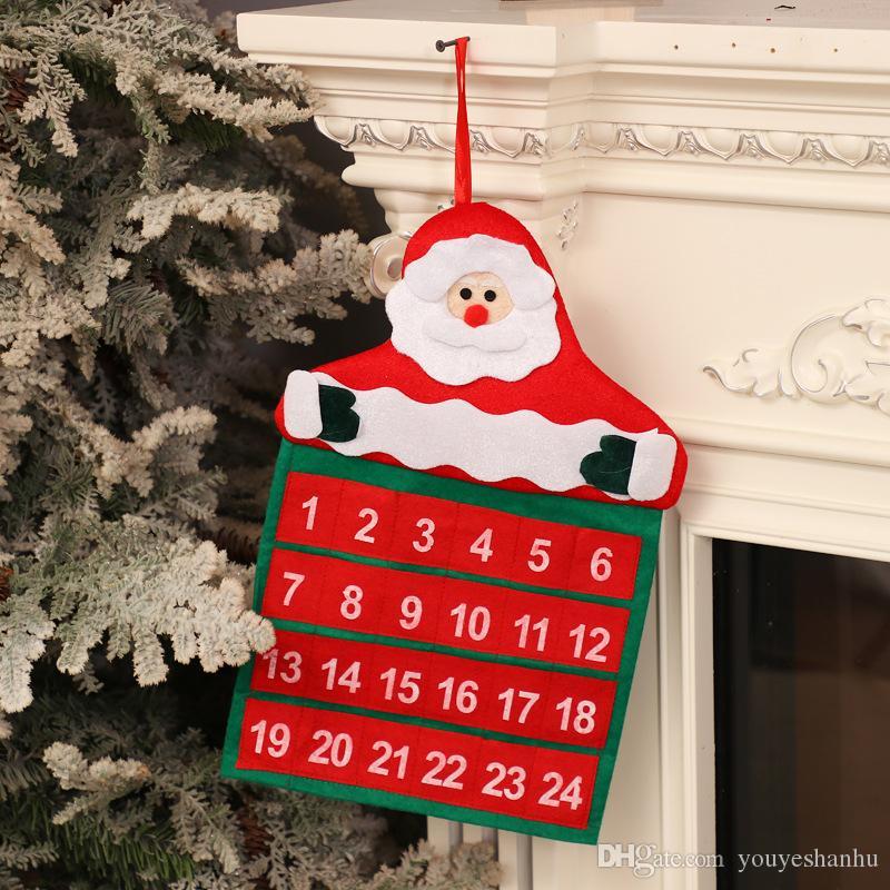 Noel Takvimleri Süsler Noel Ağacı Ev Dekorasyonu Noel Baba Takvim Otel Lobi Aile Takvimleri Malzemeleri