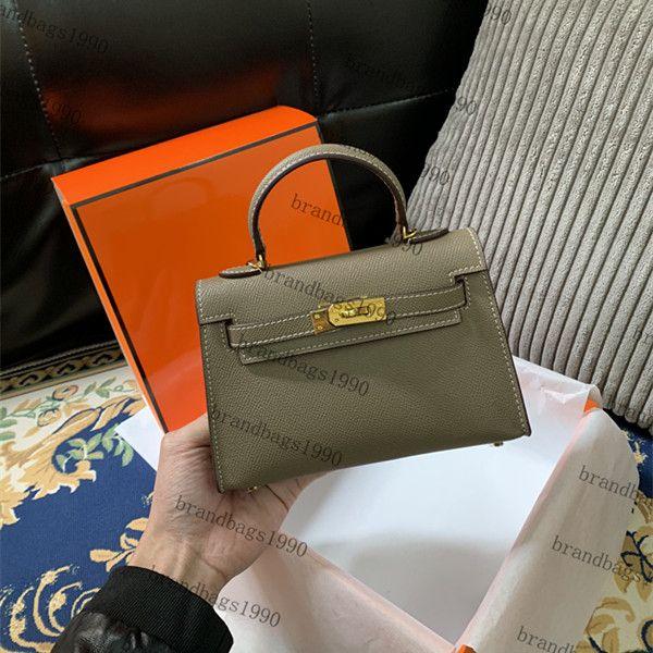Bonne Entiers 19cm Mini sac de qualité supérieure femmes Totes sacs en cuir véritable épaule sac Sacs à main de mode avec insidecode