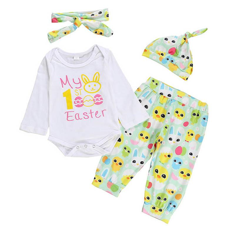 Newborn Baby Girls Long Sleeve Romper Outfits Clothes Amiley baby girl clothing Set