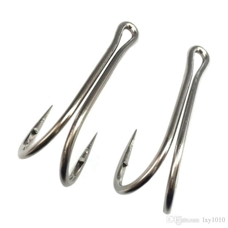 Double Hooks High Carbon Steel Fishing Hooks Classic Hooks Fly Tying Frog Fishhook Saltwater