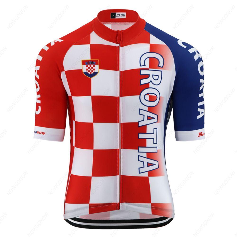 프로 크로아티아 국가 대표 팀 사이클링 저지 남성 짧은 소매 도로 자전거 저지 경주 자전거 의류 MTB 로파 마이 Ciclismo 고품질