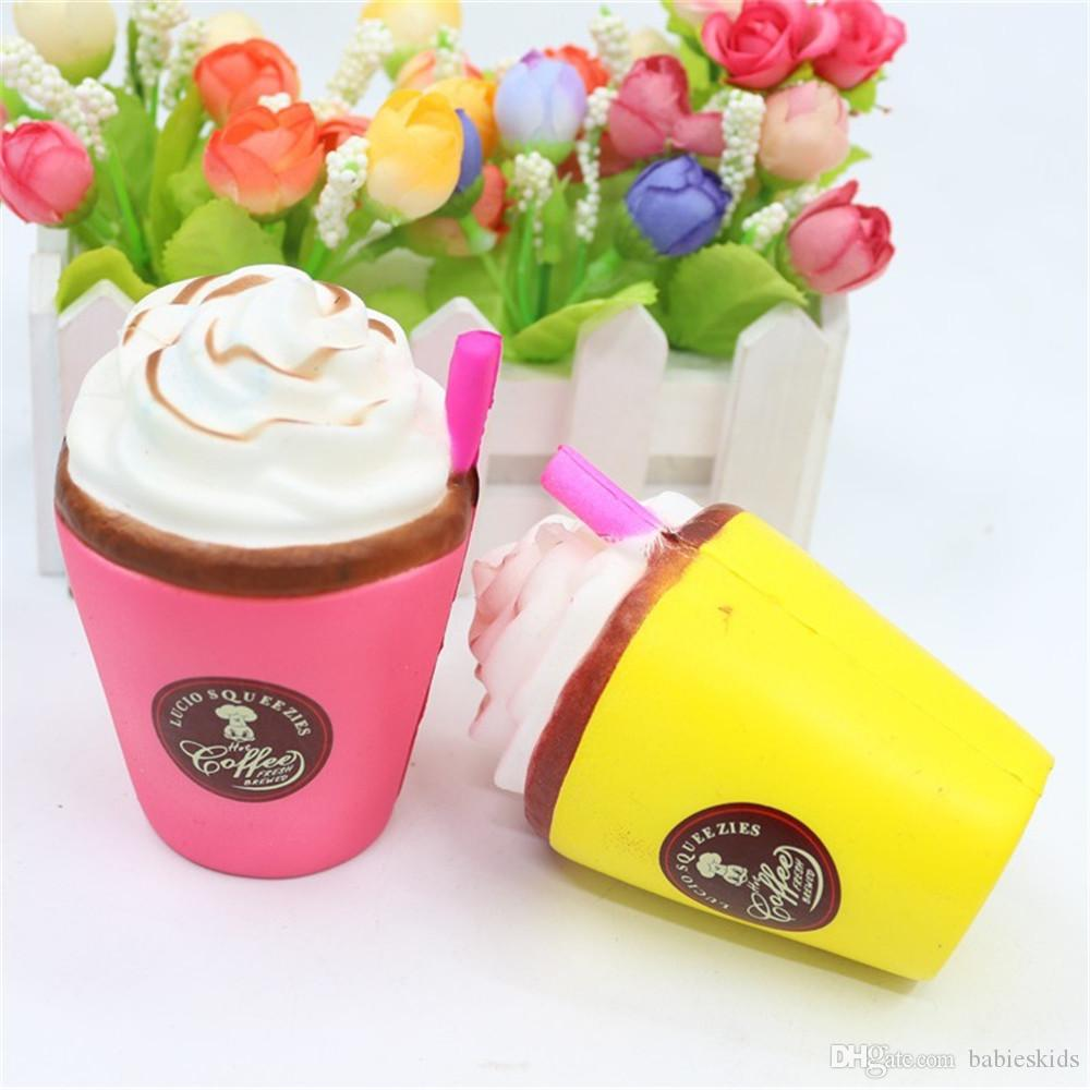 Gift Toys For Kids Squishy Slow Rising Sueeze Decompression Kawaii Drink Icecream Milk Coffee Cup Decompression Relieves Stress Toy