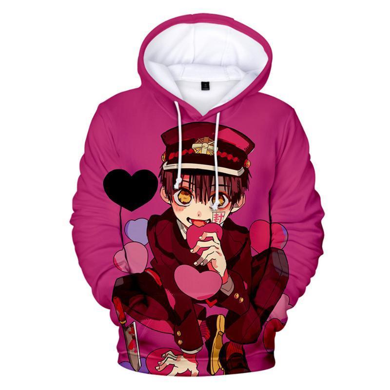 2020 Anime cappuccio igienici Bound Hanako ragazzi / ragazze kun Felpa con cappuccio autunno giovani CasualLong manicotto bambini / adulti Pullover