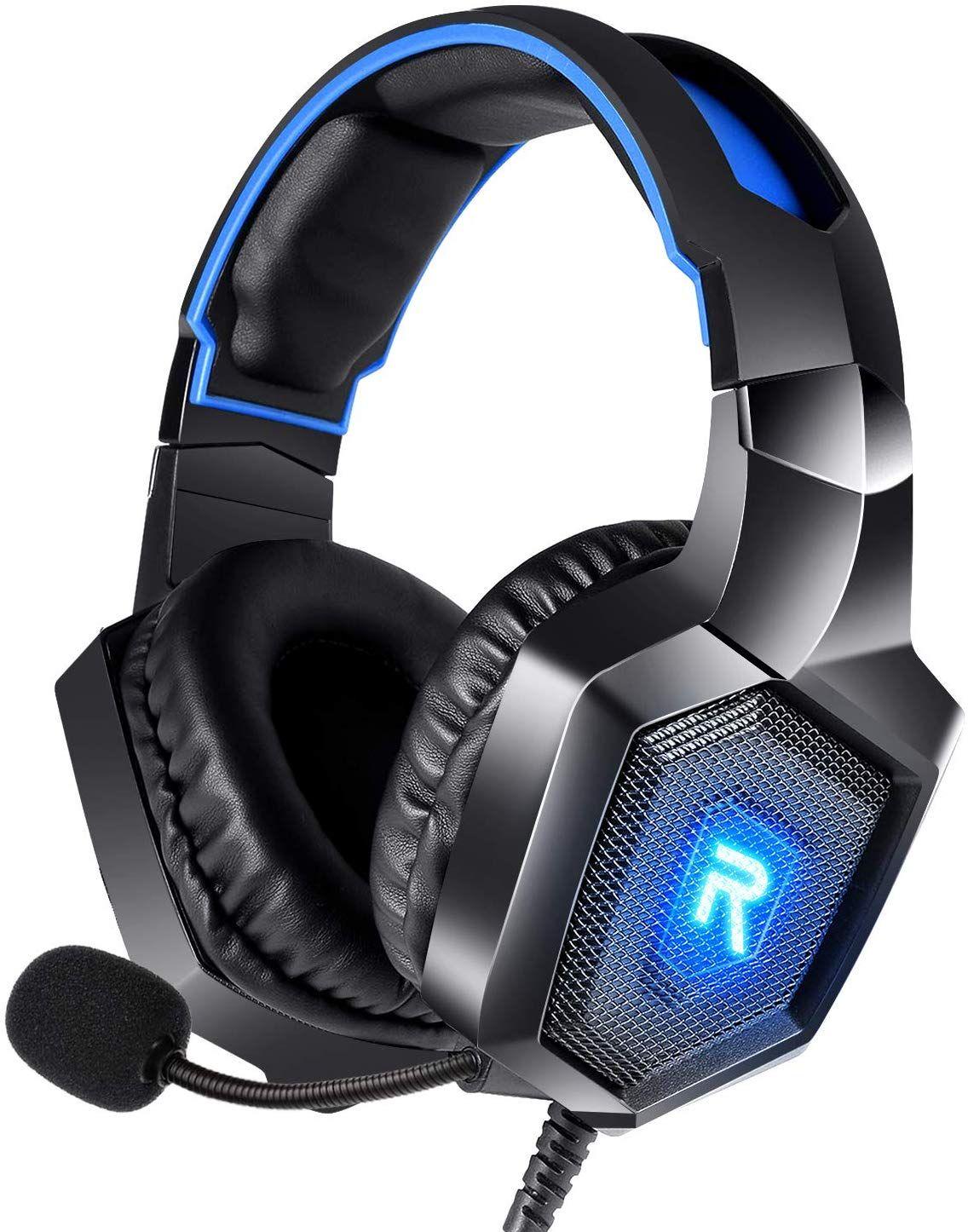سماعة ستيريو الألعاب لPS4، وأجهزة الكمبيوتر، أجهزة إكس بوكس وحدة تحكم واحدة، وإلغاء الضوضاء أكثر من سماعات الأذن لأجهزة الكمبيوتر المحمول ماك نينتندو تبديل الالعاب