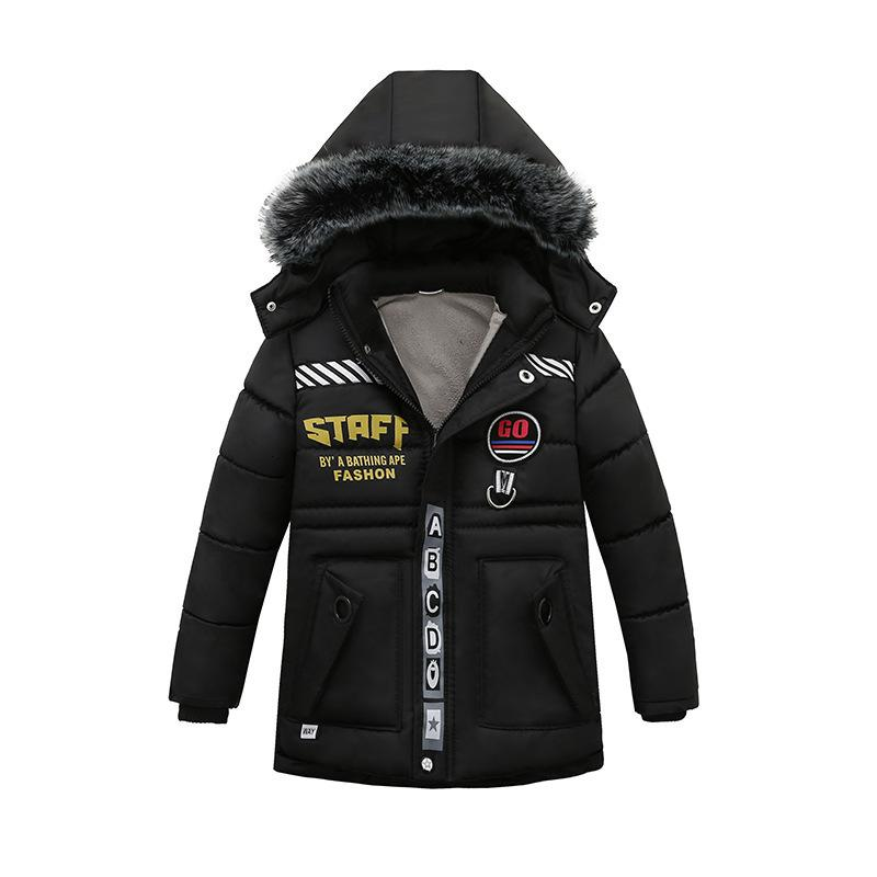 Winter Warm Coat Children Outerwear Kids Clothes Windproof Baby Boys Girls Jackets For 2-6 Years Old