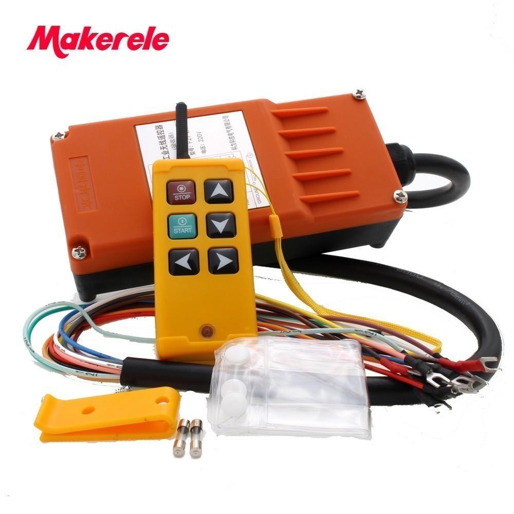 Makerele MKLTS-6 6 tuş Kontrol endüstriyel Uzaktan Kumanda 1 verici + 1, alıcı DC 12V 24V, AC36V 110V 220V 380V T200605