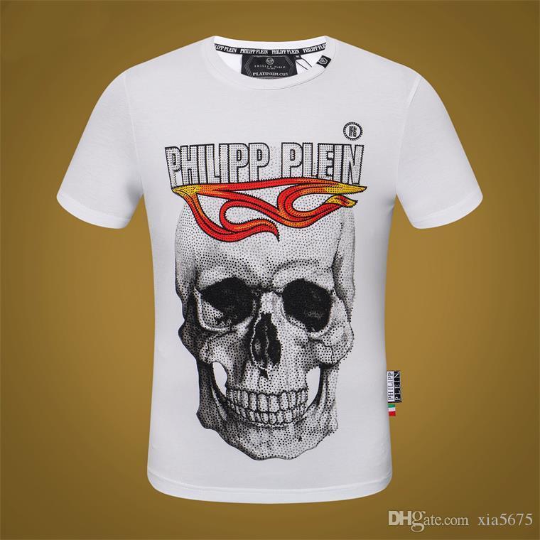 Original German luxury brand men's T-shirt short-sleeved cotton shirt shirt men's skull butt fashion men's T-shirt#A5