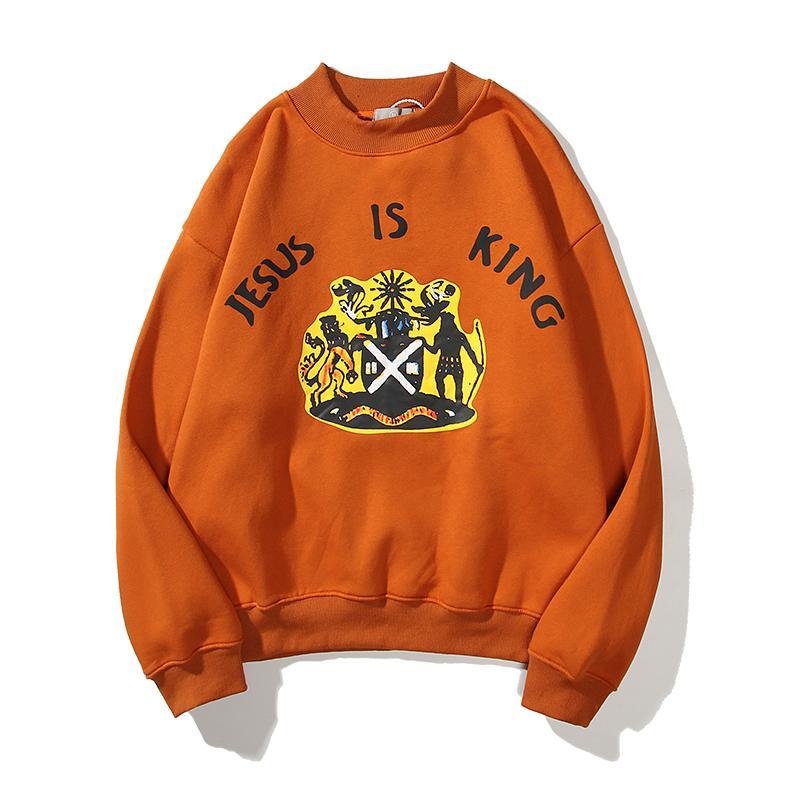 اللون البرتقالي كبير جدا البلوز الرجال والنساء الصوف عارضة هوديس الشارع الشهير فضفاض هودي
