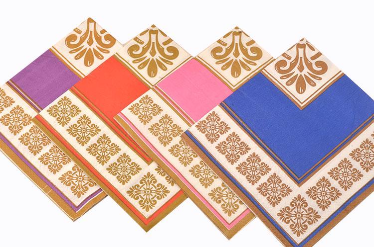 3/capas de papel impreso tejido servilletas/ pack de 20 /cuatro c/ócteles