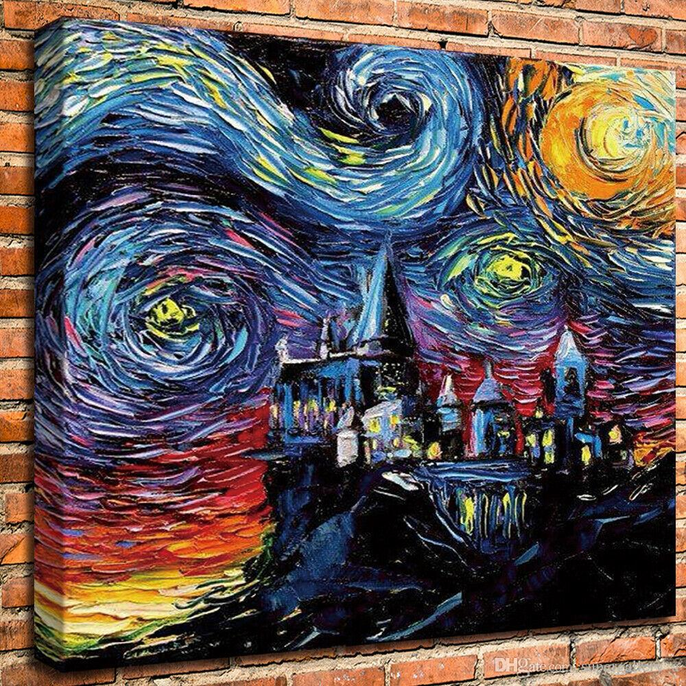 Van Gogh Harry Potter Art Home Decoration Wall Art Decor Handpainted &HD Print Oil Painting On Canvas Wall Art Canvas Pictures 190916