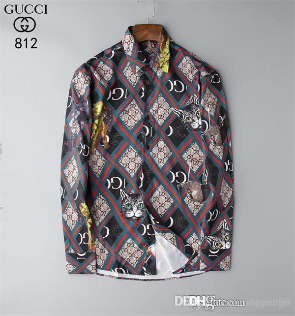 Großhandel 2019 neue Frühlings-Mann-Hemd-Gitter-Entwurf-koreanische Art-beiläufige Mens karierte Hemden Mann Langarm 100% Baumwollkleid Mannhemden BBL11