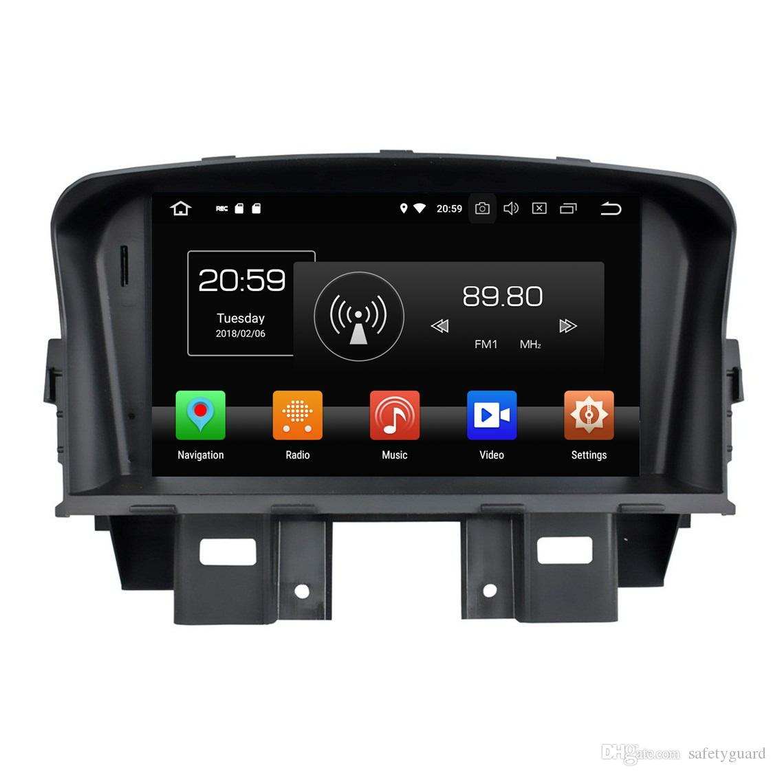 PX5 Android 8.0 Octa Core 2 din 7 Car DVD GPS لشفروليه كروز 2008 2009 2010 2011 راديو صوت Bluetooth 4G WIFI 4GB RAM 32GB ROM