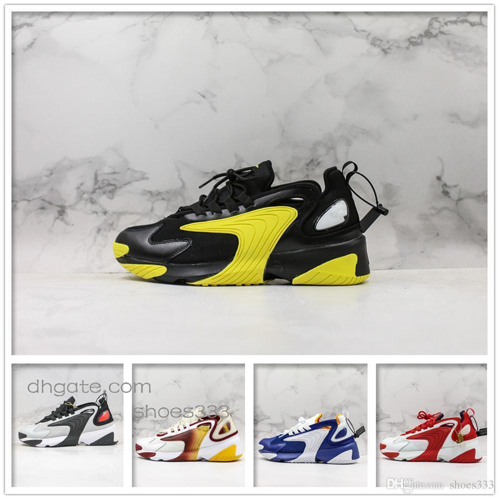 2020 hombres retro zapatillas de deporte 2k zapatillas de deporte zapatos casuales adecuados para exteriores entrenador de baloncesto de los deportes que activan de espesor inferior a2 transpirable