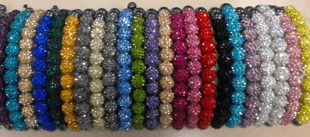 10mm en gros peut choisir la couleur mélange mélanger les options de couleur cristal fait main Bracelet pour femmes hommes bracelets beaucoup b323