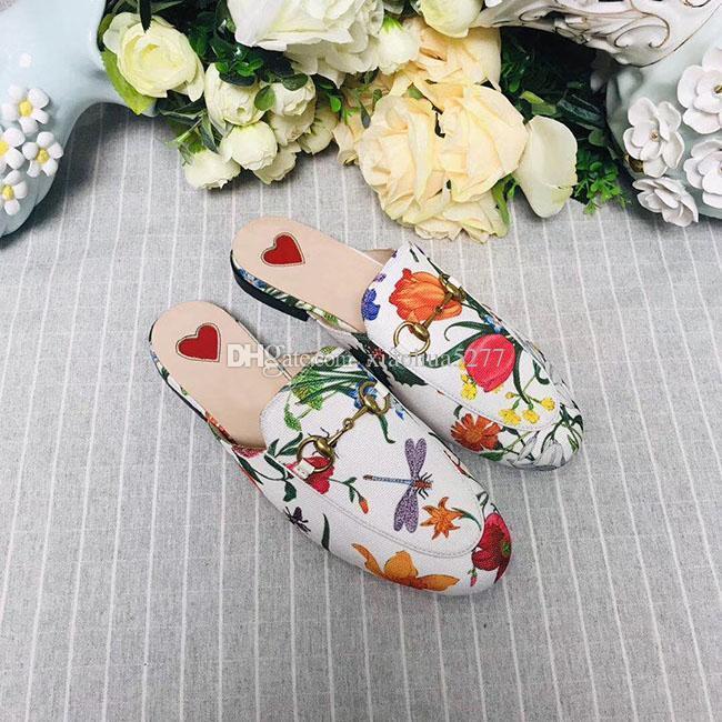zapatillas Baotou calidad de la moda para las mujeres 2019 suave piel de vaca de playa al aire libre Lazy zapatillas zapatillas de diseño de gran tamaño de la caja original US10