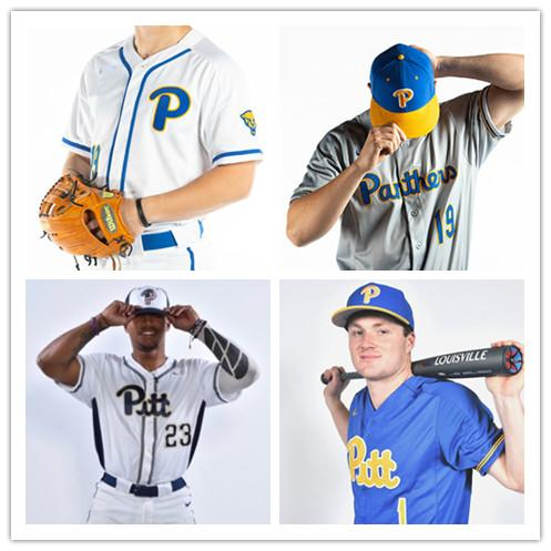 Personalizado NCAA Pitt Pittsburgh Panteres Homens Mulheres Juventude Qualquer Número Nome Costurado # 34 TJ Zeuch Baseball Jerseys S-4XL