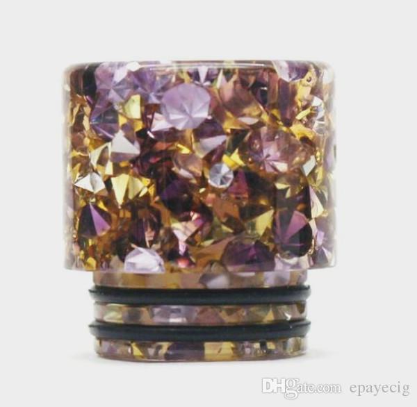 810 damla İpucu elmas reçine damlatıcı kristal smok ağızlık vape aksesuarları 2019 yeni varış ucuz fiyat