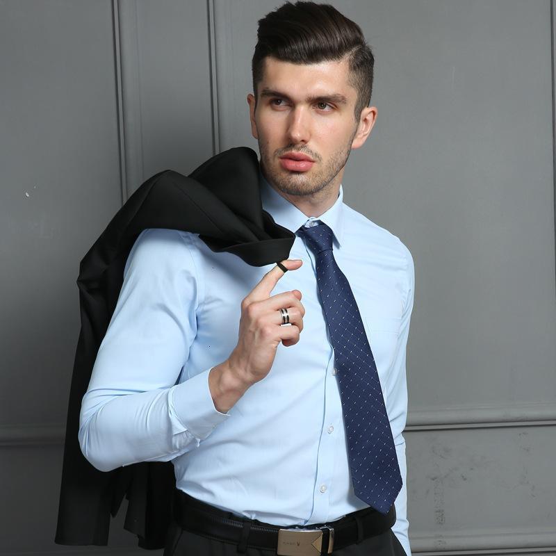 2019 Herbst-Marken-Männer Hemd Fit Striped Geschäfts-formales Langarm-Shirt Männer-Kleid Shirts Büroarbeit Plus Size Male Tops 7XL