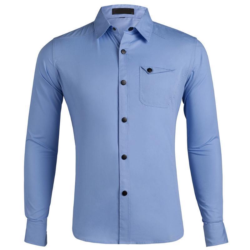 Homme Mode Marque Chemises Printemps Décontractée épais 100% coton Taille US hommes d'été Chemise à manches longues Tenue de soirée Fit