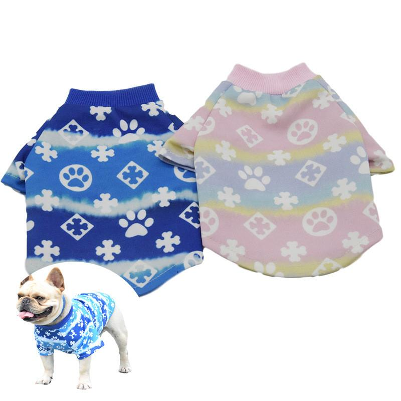 Star Pattern T-shirt Four Seasons General Dog Pet Cloth Outdoor Sports Dog Clothes Free Shipping Hot