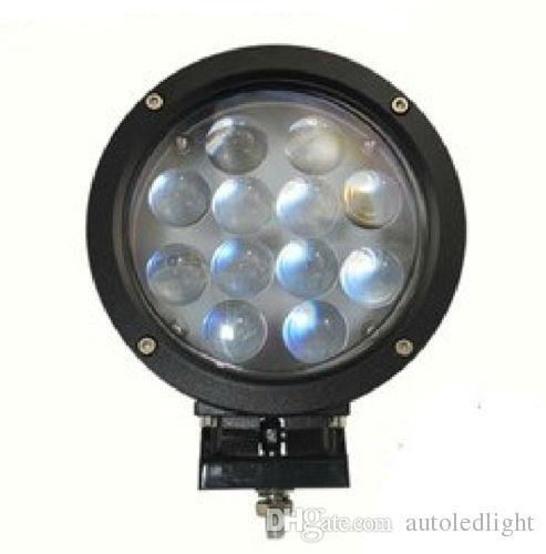 "Lighting LED Working Light 7"" 60W Bar Driving Work SUV ATV 4WD 4x4 Flood Spot Beam 5100lm IP67 Truck Lamp"