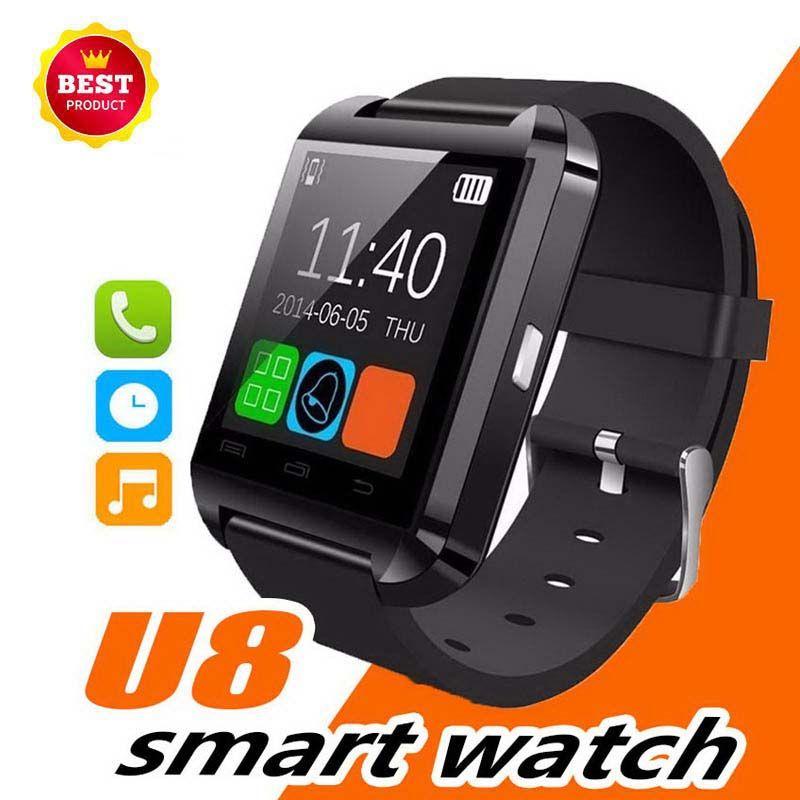 Vente chaude U8 Montre-Bracelet avec Podomètre Message SMS Bluetooth Smart Watch Sync Rappel d'Appel Caméra à Distance Montre de Sport
