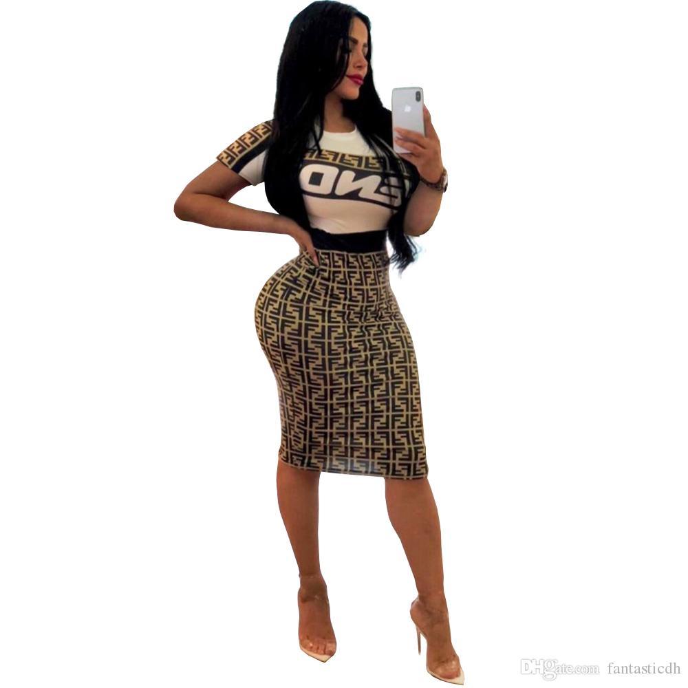 Lettre à manches courtes S-2XL Imprimer Hip hop Été Femmes Robes Fashion Casual sexy moulante Bandage Night Club Mini robe FF45