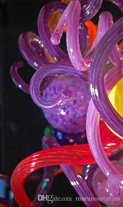현대 미술 유리 샹들리에 파이프 Chihuly 스타일 수제 불어 유리 아트 유리 이탈리아어 스타일 파이프 펜던트 램프