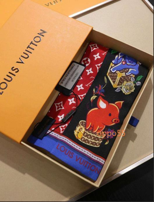 Meistverkauften brandneuer Schal Luxus-Frauen-Beutel 100% hochwertiges Schal Kopftuch 7x120cm SS02